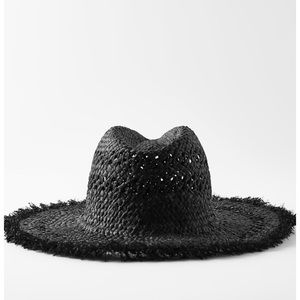 ✨NEW✨ZARA BLACK WOVEN HAT FOR BEACH SUMMER